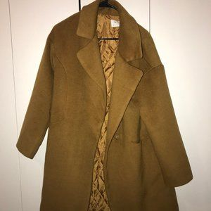 Jackets & Blazers - Long Camel Pea Coat